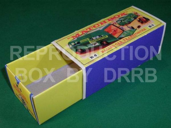 Matchbox 1-75 Major Pack # 6 Racing Car Transporter - Reproduction Box